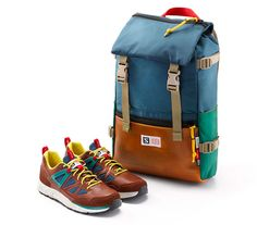 Topo x Salomon Rover Pack Backpack | Teal/Navy/Leather  $159.00 @Sportiquesf.com