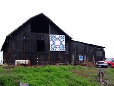 barn quilt  saw this was popular in Iowa last fall... not seeing it in Indiana