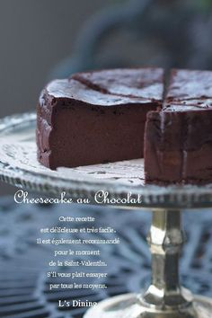 【200人れぽ感謝いたします】 濃厚しっとり美味しい生チョコ風チーズケーキです♡ 混ぜるだけでとっても簡単なのも魅力^^