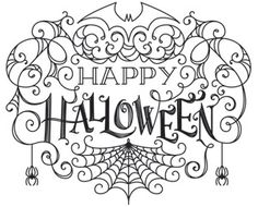 Cobwebby shapes create an eerie look in this Halloween greeting. Downloads as a PDF. Use pattern transfer paper to trace design for hand-stitching.