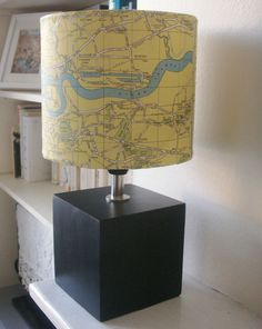 vintage map lamp - cool idea