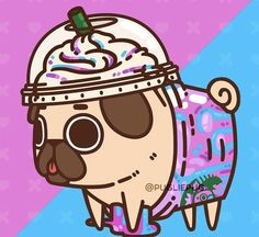 Unicorn Frappugccino ✨ May the memory of its magic (sugar high) giv.fabled Unicorn Frappugccino ✨ May the memory of its magic (sugar high) giv. Cute Food Drawings, Cute Animal Drawings Kawaii, Cartoon Drawings, Pug Kawaii, Kawaii Art, Pug Wallpaper, Kawaii Wallpaper, Pug Cartoon, Cute Sketches
