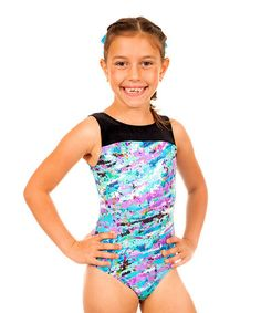 Another great find on #zulily! Turquoise & Multicolor Watercolor Leotard - Kids & Tween #zulilyfinds