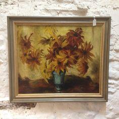 Lovely Original Oil of Sunflowers Contemporary Artwork, Vintage Prints, Sunflowers, Original Paintings, Oil, The Originals, Contemporary Art, Sunflower Seeds, Butter