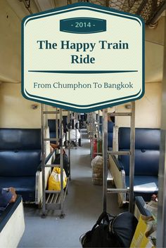 Taking the train from Chumphon to Bangkok is one of the most popular ways to make the trip, and for good reason! We highly recommend it and it is a chance to the buses. #thailand #overlandjourney #train #happy