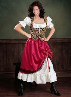 Flare Skirt, Flare Dress, Costume Renaissance, Renaissance Fair, Wench Costume, Gypsy Costume, Costume Patterns, Sewing Patterns, Costume Ideas
