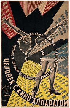 Man with a Movie Camera, 1929, from 'The men with a movie poster' on the Eye blog.