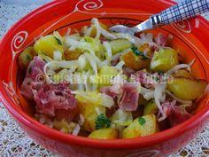 Salade tiède pommes de terre - endives et jarret