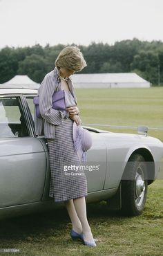 Lady Diana Spencer, soon to be Diana, Princess of Wales (1961 - 1997), looking pensive at a polo match in Windsor after the Ascot races, 16th June 1981.