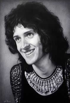Brian May - The Picture-Perfect Pencil Portraits of Natasha Kinaru Brian Rogers, Queen Brian May, Queen Drawing, Cute Disney Drawings, Queen Photos, Queen Art, Somebody To Love, Queen Freddie Mercury, Killer Queen