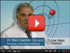 Dr. Gannon of the Low Vision Institute--- helping thousands of people with Macular Degeneration see again.