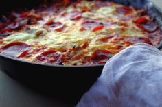 Grain-Free Cabbage Pizza Skillet from Food Renegade