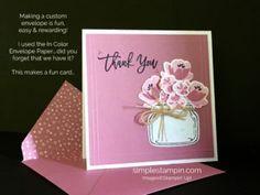 Stampin' Up! Simple Saturday Card, Jar of Love Bundle, Thank You Stampinup card, Susan Itell