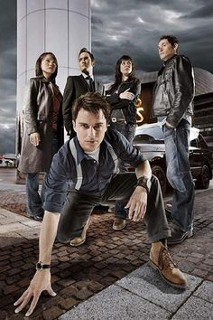 Torchwood!! I love how Jack is prowling at the screen. If only Ianto was wearing a pink/red shirt.