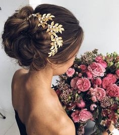 Wedding Updo Hairstyles for Long Hair from Ulyana Aster_05 ❤ See more: http://www.deerpearlflowers.com/wedding-updo-hairstyles-for-long-hair-from-ulyana-aster/