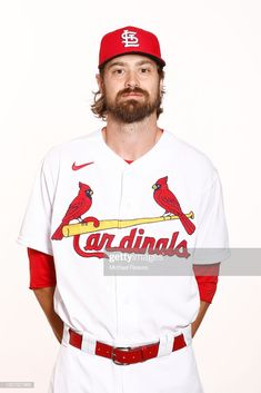 Andrew Miller of the St. Louis Cardinals poses for a photo on Photo Day at Roger Dean Chevrolet Stadium on February 2020 in Jupiter, Florida. Get premium, high resolution news photos at Getty Images Andrew Miller, Roger Dean, St Louis Cardinals, The St, Poses, News, Mens Tops