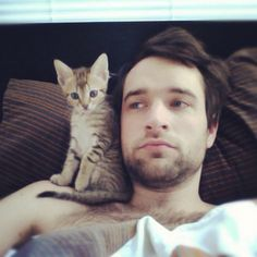 the best blog ever: boys with beards with cats.