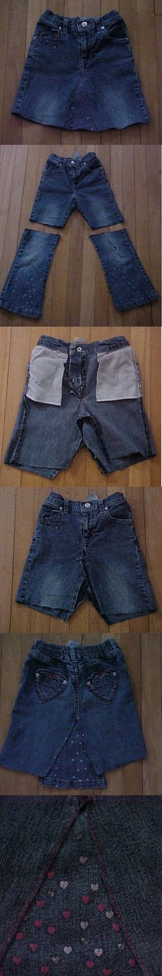 Turn Old Jeans into Skirt