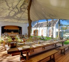Pierneef à La Motte at La Motte Wine Estate in Franschhoek. Outdoor furniture by James Mudge indoor furniture by Pierre Cronje. Interior Design by Christiaan Barnard. African Holidays, Wine Safari, Wine Tourism, Out Of Africa, African Safari, Countries Of The World, Cape Town, South Africa, Outdoor Living