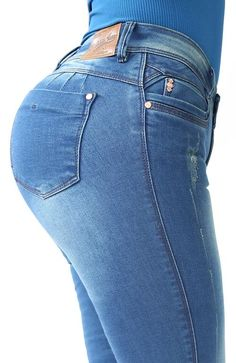 Ref: 410 JEAN OCHENTERO 1 BOTON  (Dirty Pardo) Skinny Jeans, Denim, Pants, Outfits, Ideas, Fashion, Models, Denim Jeans, Women's Jeans