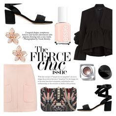 Untitled #145 by raniaghifaraa on Polyvore featuring polyvore fashion style Rachel Comey See by Chloé Valentino NAKAMOL Bobbi Brown Cosmetics Nicole clothing