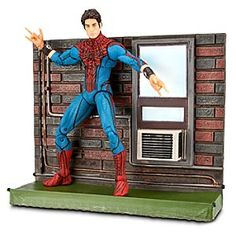 Marvel Select The Amazing Spider-Man: Unmasked Spider-Man Action Figure | MarvelMarvel Select The Amazing Spider-Man: Unmasked Spider-Man Action Figure - 7'' - Inspired by the movie The Amazing Spider-Man, this highly detailed poseable action figure has a scenic base with a wall fit for crawling. The interchangeable hands and mask make Spidey ready for a fight.