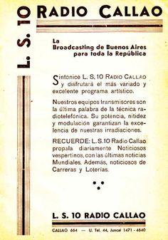 Publicidad Radio CALLAO, Buenos Aires, 1938.