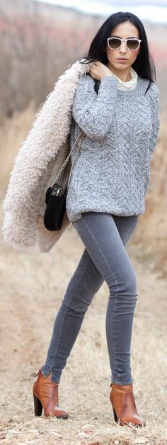 It's Cold Outside ! I Need My Faux Fur Coat by With Or Without Shoes
