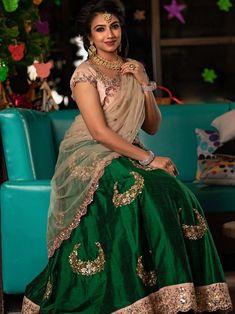 Half Saree Lehenga, Lehnga Dress, Half Saree Designs, Blouse Designs, Designer Blouse Patterns, Designer Dresses, Half Saree Function, Pink Bridal Lehenga, Indian Bridal Fashion