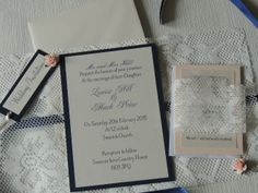 Lace Wrap wedding invites handmade by Respoke Boutique Handmade Wedding Invitations, Wedding Stationery, Lace Wrap, Wedding Wraps, Invites, Reception, Boutique, Personalized Items, Homemade Wedding Invitations