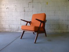 HANS Wegner styled mid century LOUNGE CHAIR