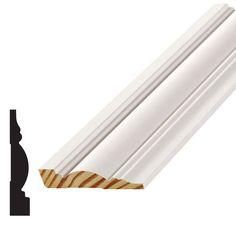 Alexandria Moulding 11/16 in. x 3-1/2 in. Wood Finger-Jointed Pine Casing Moulding-JW719-90192C-SW - The Home Depot