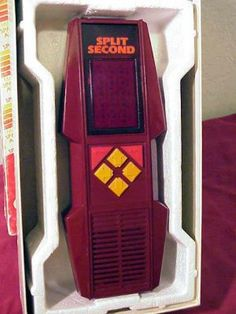 Split Second by Parker Brothers (1980) Vintage Hand-Held Electronic Video Game.  $44.95 shipped.  Double click image.