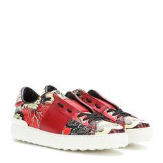 "Valentino - Leder Low-Top-Sneakers ""Open"" mit ""Rockstud""-Sohle"