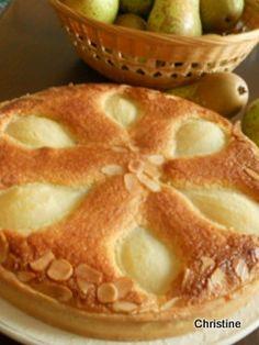Tarte+aux+poires+à+la+frangipane