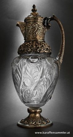 Charles Edwards - London 1893 No. Antique Glass, Antique Silver, Carafe, Baroque Painting, Jar Art, Bronze, Antique Perfume Bottles, Porcelain Vase, Cut Glass