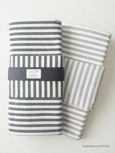 DIY black and grey baby's beds sheet. www.facebook.com/kotona.sisustustuotteet