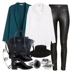 """""""Style #9121"""" by vany-alvarado ❤ liked on Polyvore featuring H&M, CÉLINE, Dune, Topshop, Yves Saint Laurent and Alexander McQueen"""