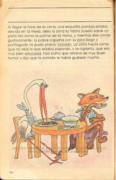 La Zorra y la Cigueña, te acuerdas? libros de texto gratuitos 80's México