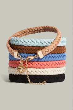 love these pretty braided bracelets... I own the top one but I want em allll