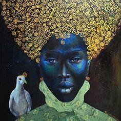 'The black queen' (2010)  Gustav Klimmt meets west&east Africa. De in Jamaica geboren Amerikaanse kunstenares Tamara Natalie Madden stelt in haar schilderijen de enorme verspreiding van Afrikaanse roots over de wereld centraal. Haar doel is om de intrinsieke waarde van mensen met een ongedefinieerde identiteit te tonen door ze te verbeelden als royalty.