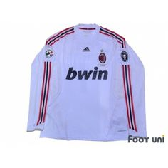 Photo1: AC Milan 2008-2009 Away Players L/S Shirt #7 Pato Lega Calcio Serie A Patch/Badge UEFA Champions League Trophy Patch/Badge-7 adidas bwin - Football Shirts,Soccer Jerseys,Vintage Classic Retro - Online Store From Footuni Japan