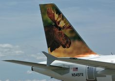 Frontier Airlines Airbus A319-111 N945FR 'Chocolate the Moose'