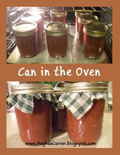 Forget the Boiling Water Bath ~ Can in the Oven but only use this technique for fruits tomatoes like salsa and apple butter. It might not be safe for vegetables and meats. Those items really need to be processed properly in a pressure canner to preserve. Oven Canning, Canning Tips, Canning Recipes, Canning Pears, Jar Recipes, Canning Food Preservation, Preserving Food, Canning Vegetables, Water Bath Canning