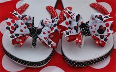 custom boutique ribbon flip flops ladies mommy babies bling disney ...