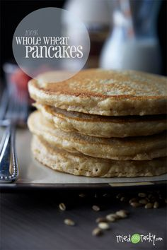 100% Whole Wheat Pancakes on MyRecipeMagic.com
