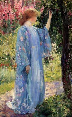 Guy Rose (1867-1925) - the blue kimono