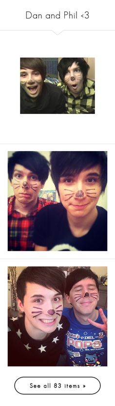 """""""Dan and Phil <3"""" by thelyricsmatter ❤ liked on Polyvore featuring youtubers, dan and phil, people, dan howell, danisnotonfire, dan, images, youtube, amazingphil and british youtube"""