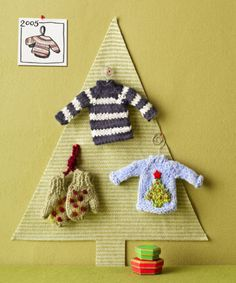 Based on a pint-size pullover ornament, these petite knitted pieces are the ideal gift