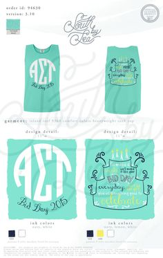 Alpha Sigma Tau   AST   Monogram Sorority Design   Birthday Cake Bid Day   South by Sea   Sorority Shirts   Sorority Tanks   Greek Shirts
